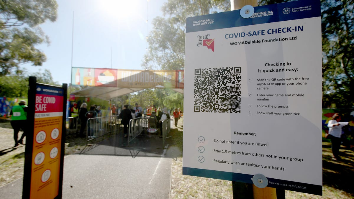 Man Banned From Carrying 'Loose QR Codes' After Altering Covid Check-In Signs thumbnail