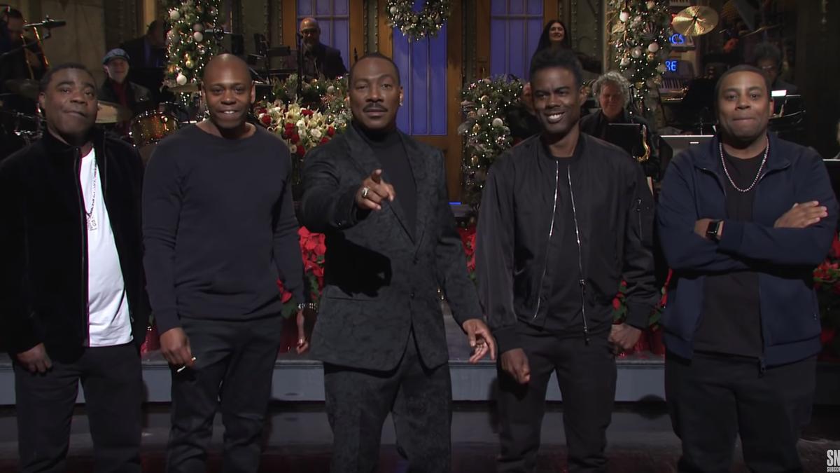 Black Men United: Eddie Murphy Assembles Legendary Black Comedians for SNL Opener
