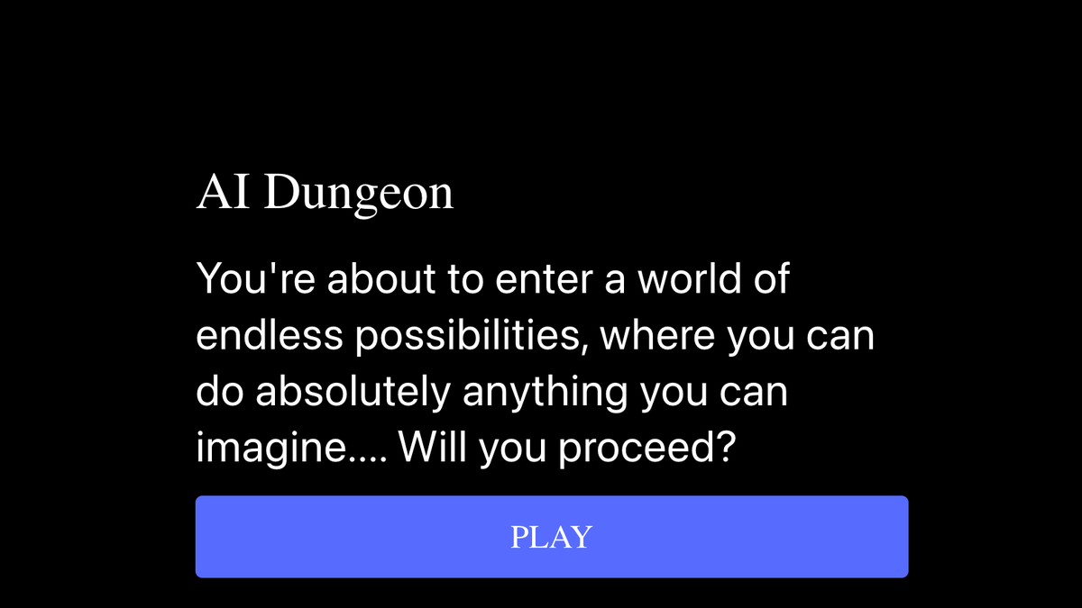 This AI-Powered Choose-Your-Own-Adventure Text Game Is Super Fun and Makes No Sense