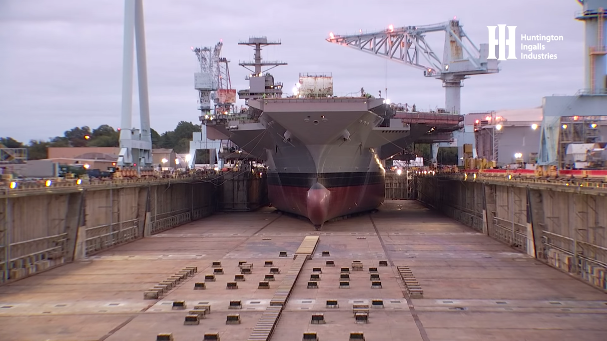 Watch The Future USS John F. Kennedy Float For the First Time