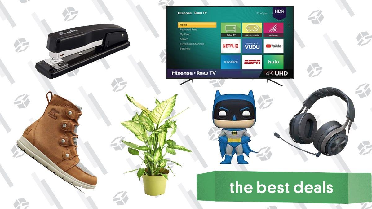 Friday's Best Deals: Audio Technica Headphones, Live Plants and Succulents, Stapler, and More