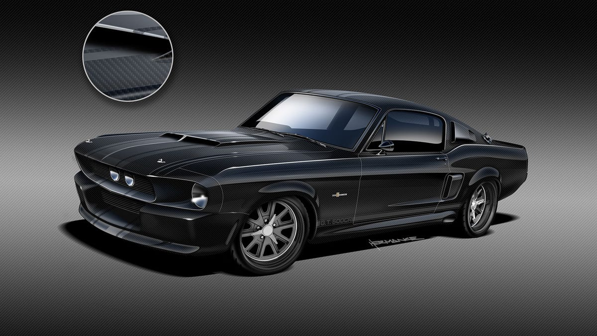 The 1967 Shelby GT500 Mustang Is Coming Back Again With A Carbon Fiber Body