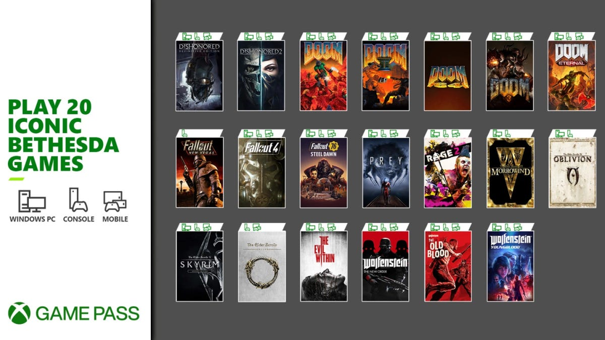 A Bunch Of Bethesda Games Are Joining Xbox Game Pass Tomorrow