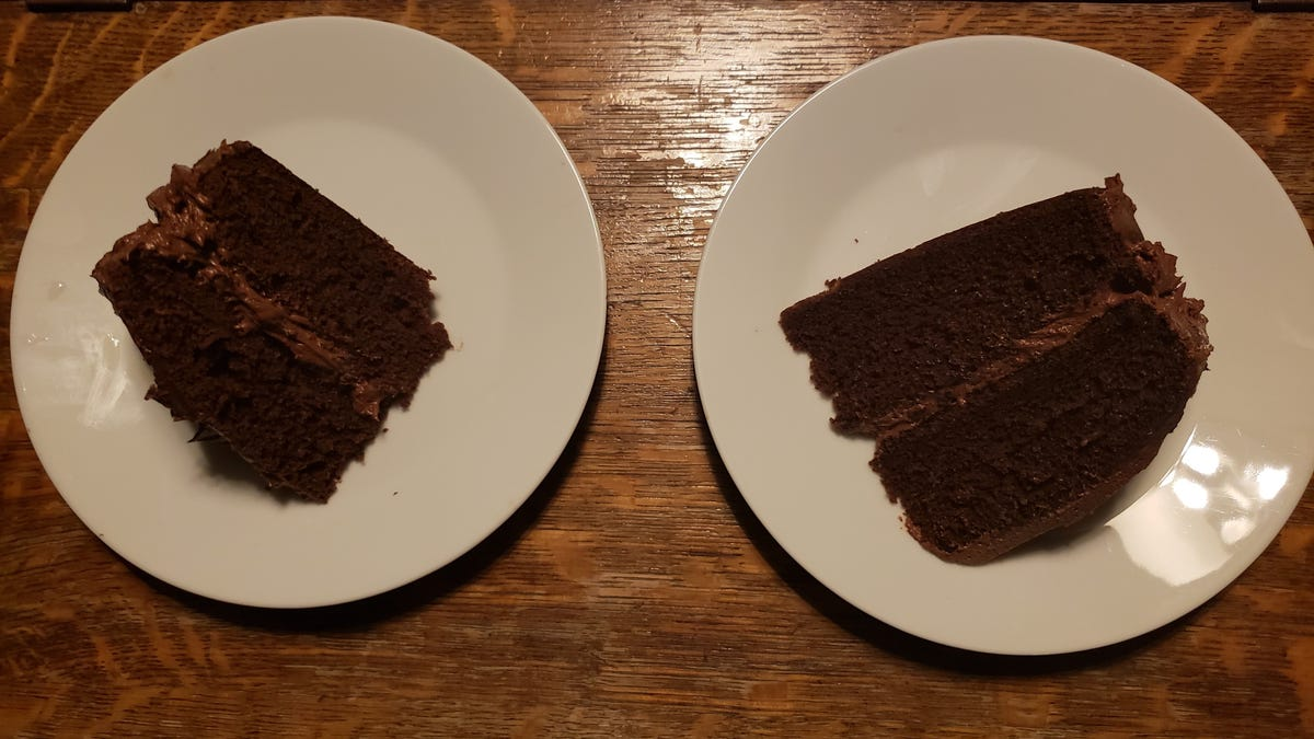 I made chocolate cakes with both mayo and sour cream and there's a clear winner