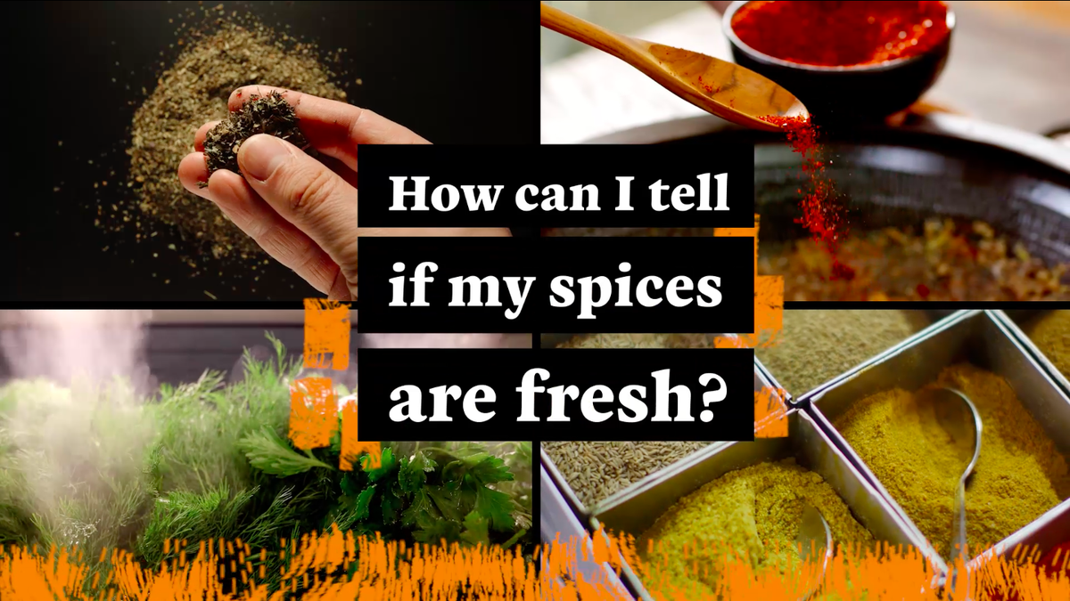 How can you tell if your spices have gone stale?