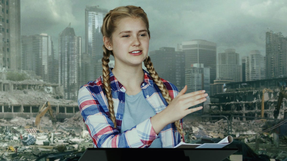 Critics In 2030s Ask Why Teen Climate Activist Isn't In Abandoned School Bailing Water And Shooting Enemy Foragers