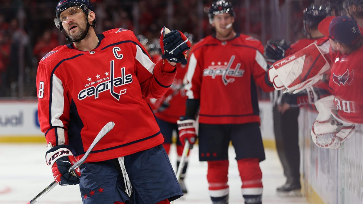 Alex Ovechkin is in a hurry, because he has to be
