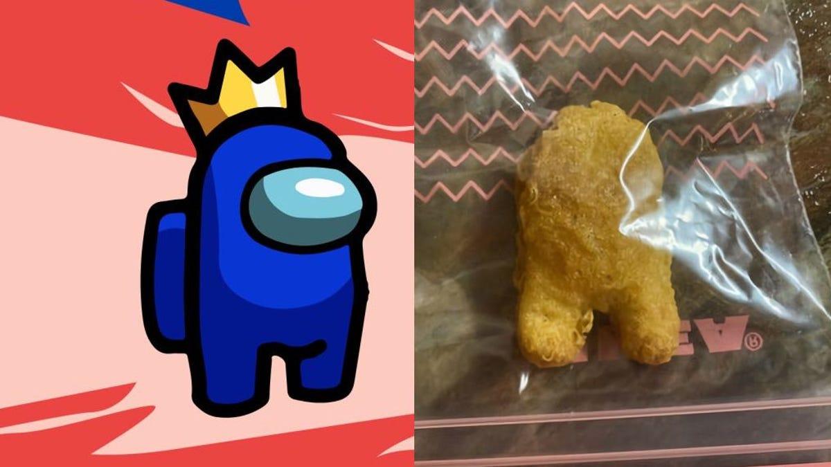 Paga $100000 por nugget de pollo que parece un personaje de Among Us