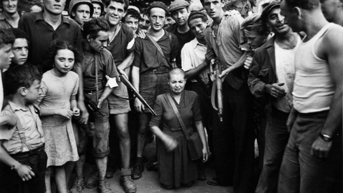 Segunda Guerra Mundial: Francia afeitó la cabeza de sus mujeres
