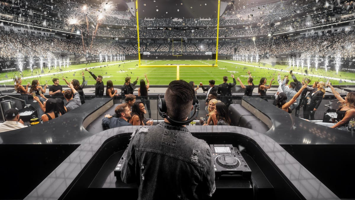 Raiders' Black Hole gets makeover with literal Las Vegas club seating