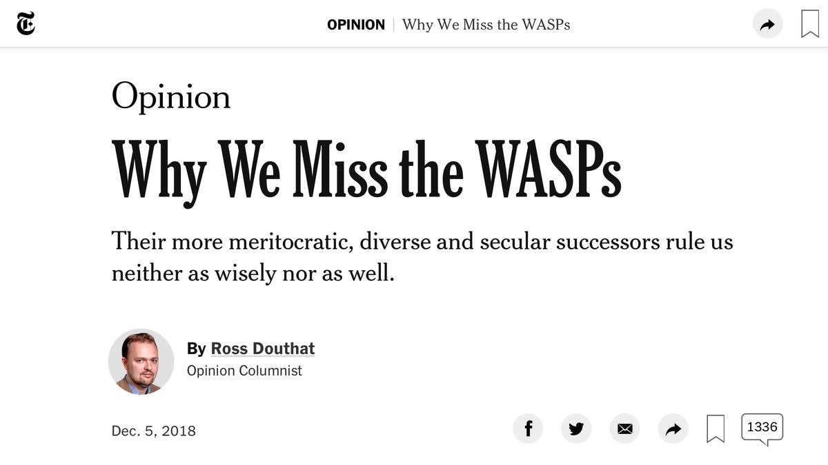 Apparently, the New York Times Really Misses White Supremacy