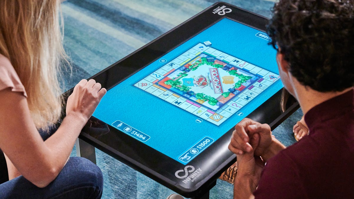This Touchscreen Digital Board Game Table Is Rage Flip Resistant and Has Tons of Hasbro Games