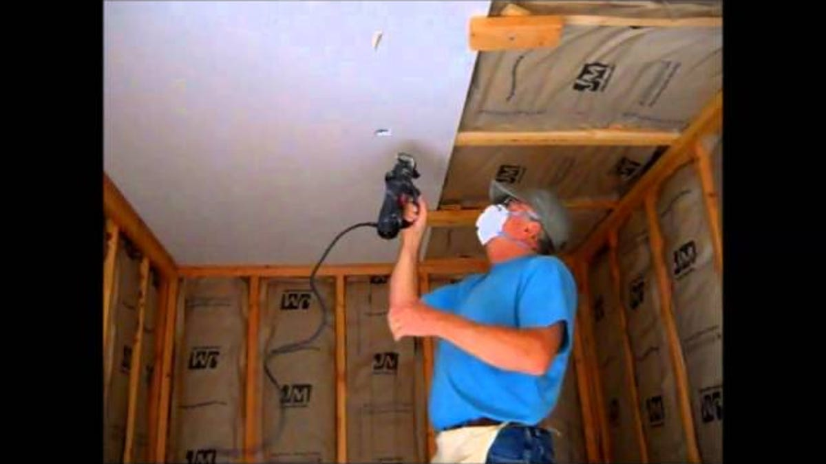 Hang Drywall On The Ceiling By Yourself