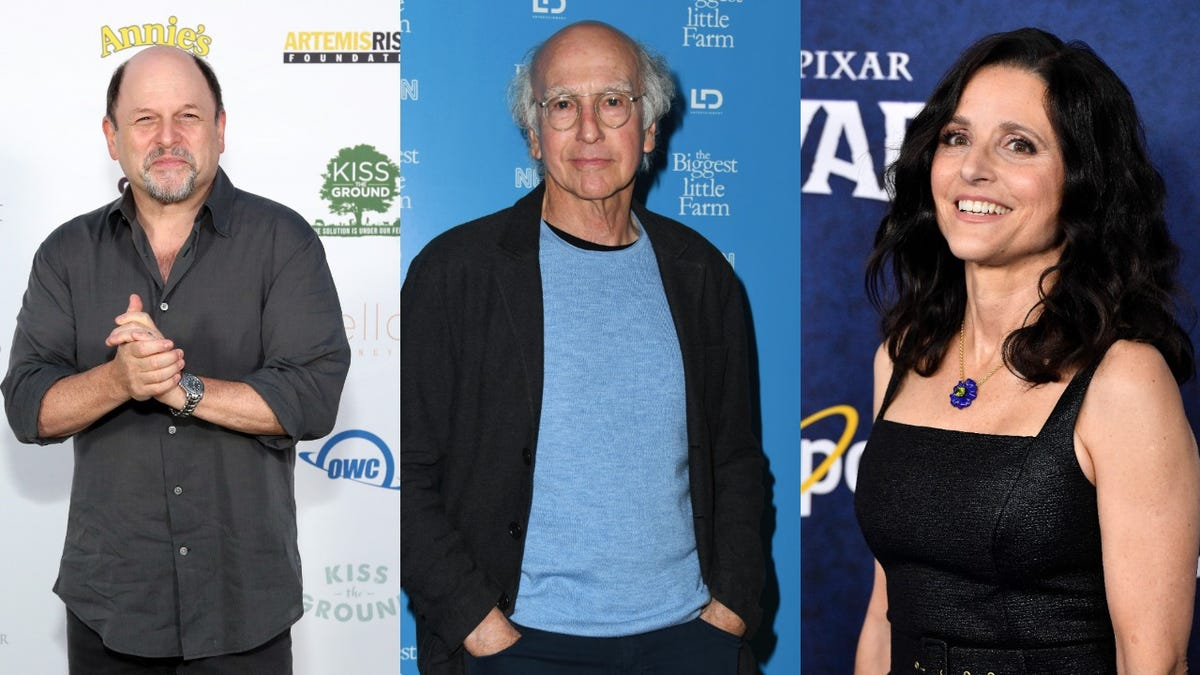 "Julia Louis-Dreyfus, Jason Alexander, and Larry David reuniting for a ""Fundraiser About Something"""