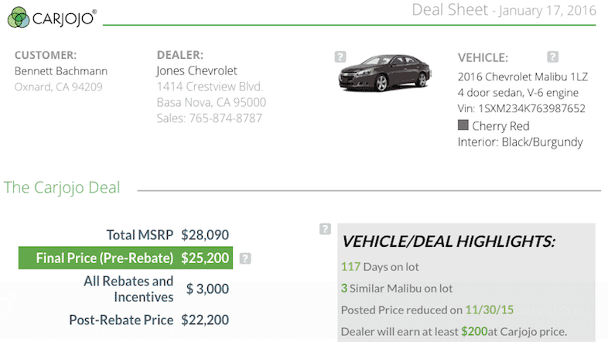 Carjojo Tells You How Low You Can Go When Haggling Over a Car