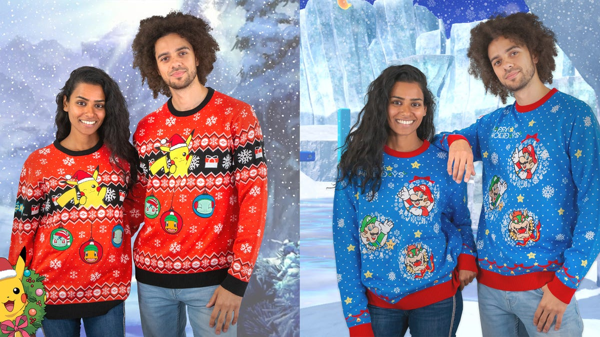 These Are Nintendo's Official Christmas Sweaters