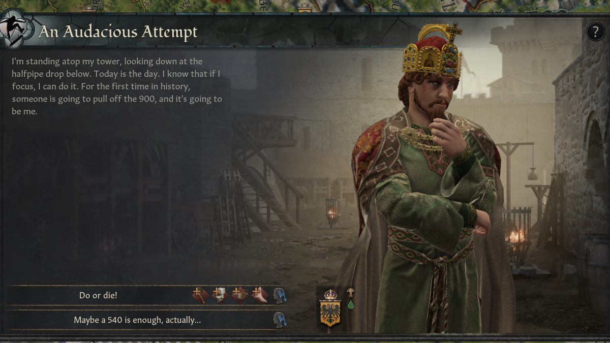 Crusader Kings III vs Tony Hawk's Pro Skater Is Exactly The Kind Of Mod We Need