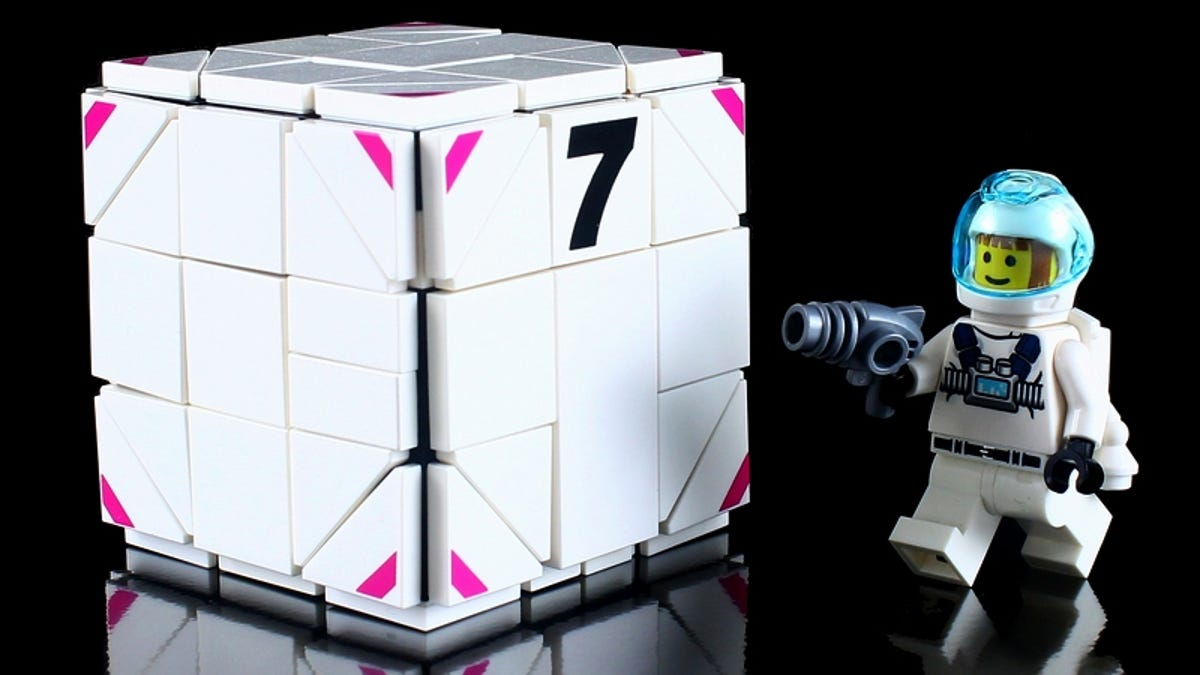 Unassuming Cube Transforms Into Awesome Lego Robot