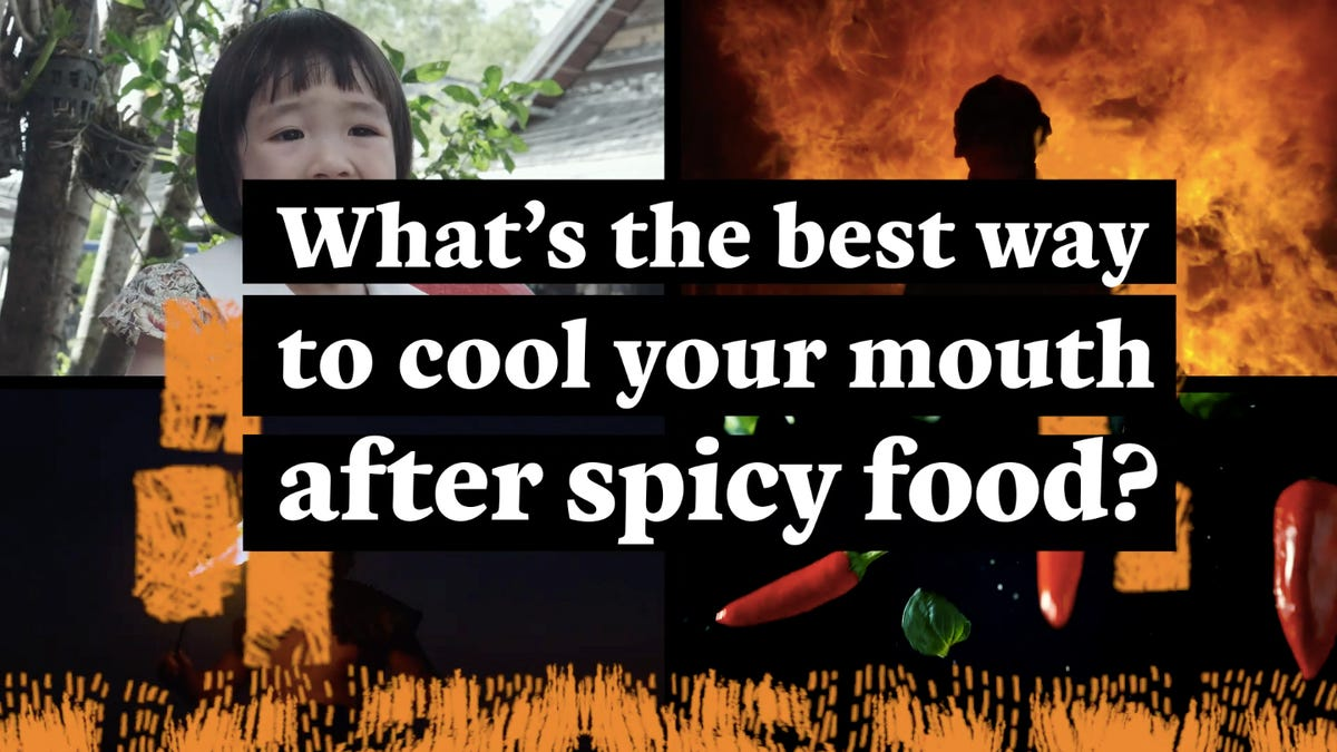 How do you cool your mouth after eating something spicy?