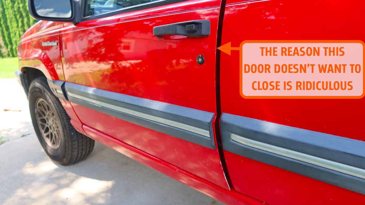 The Absurd Reason Why This Jeep's Door Won't Close