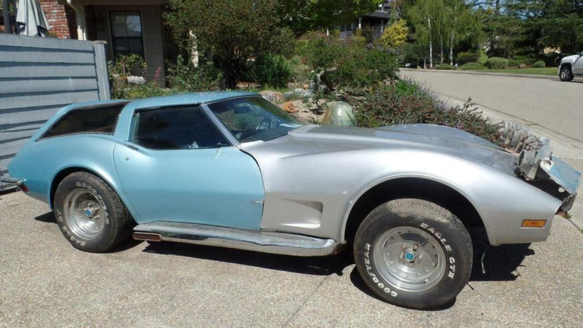 Diese wilde Corvette ist eine Shooting Brake mit sechs Scheinwerfern