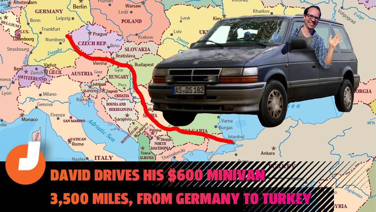 Ich entdeckte die 'Fahrhölle', als ich einen 600 Dollar teuren Chrysler Minivan mit Dieselantrieb 2.000 Meilen von Deutschland in die Türkei fuhr