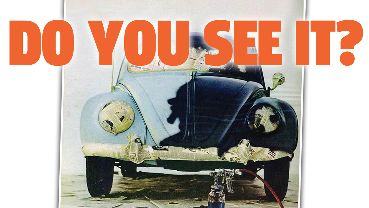 I've Always Seen Something Weird In This Old VW Ad And I Wonder If You Do Too
