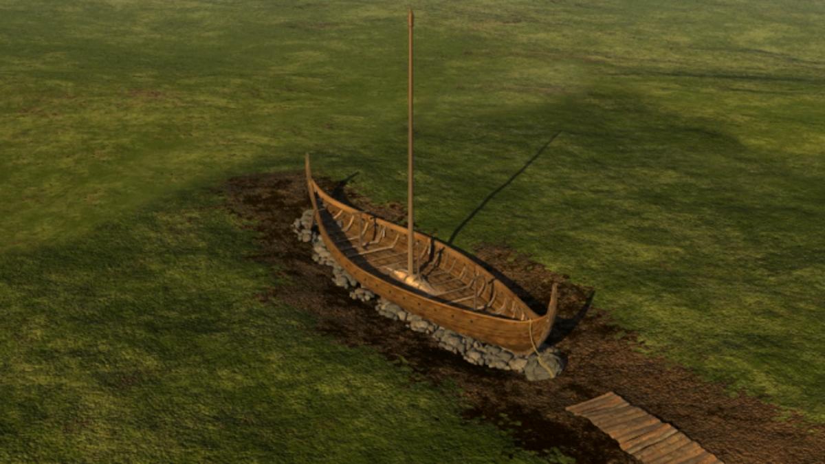 Arqueólogos noruegos desenterrarán un barco vikingo de 20 metros