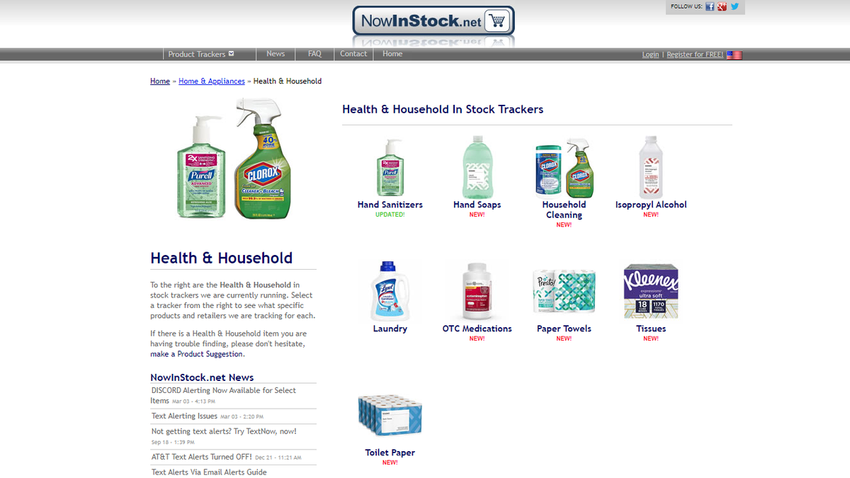 If You Need Coronavirus Supplies, Try Using NowInStock