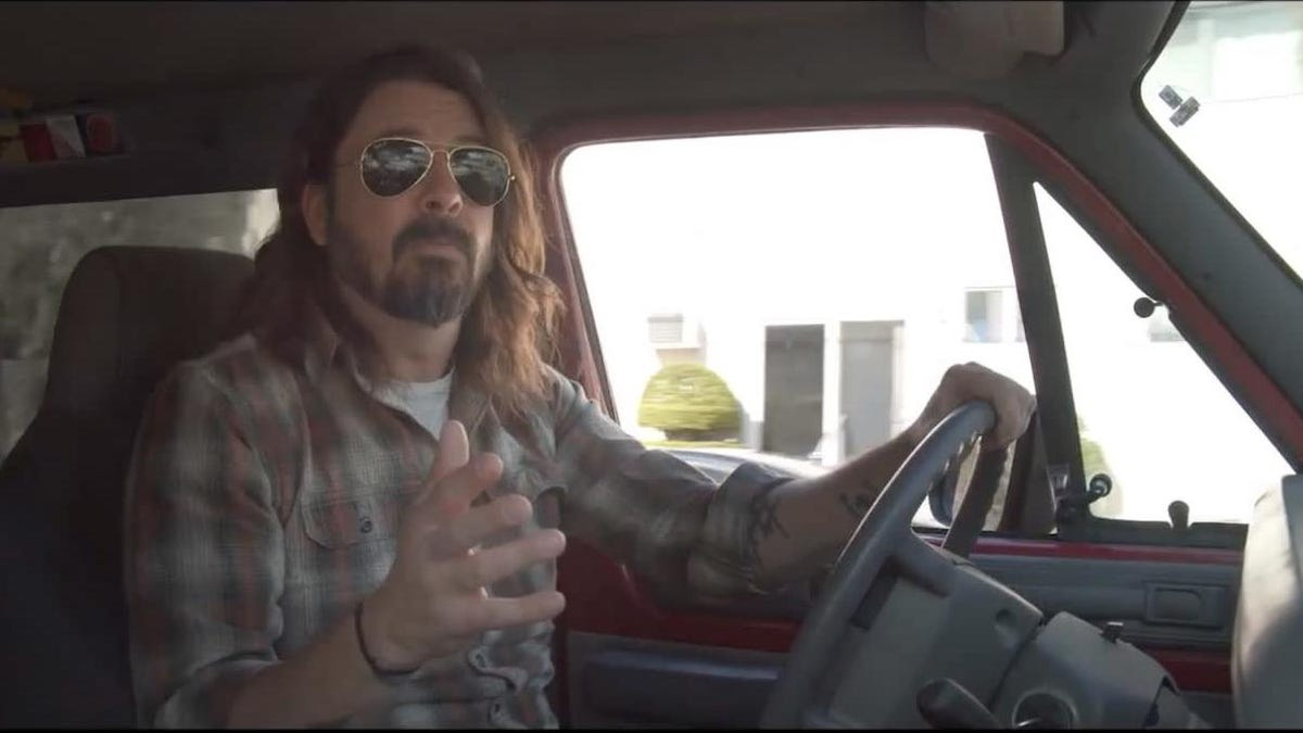 Dave Grohl gets some famous musicians in a van for What Drives Us