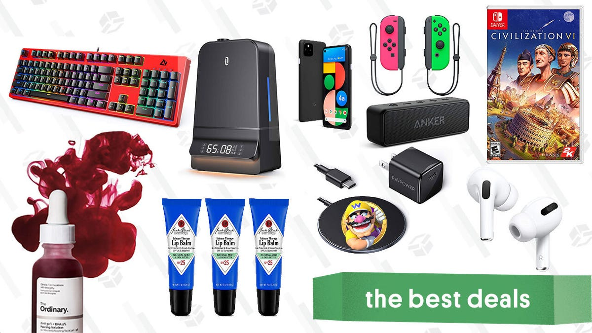 Monday's Best Deals: Apple AirPods Pro, Google Pixel 4a 5G, Switch Joy-Cons, TaoTronics Humidifiers, The Ordinary Peeling Solution, iPhone 12 MagSafe Charger, and More