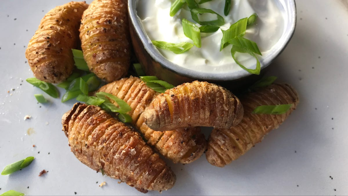 Air Fry Some Tiny Hasselback Potatoes