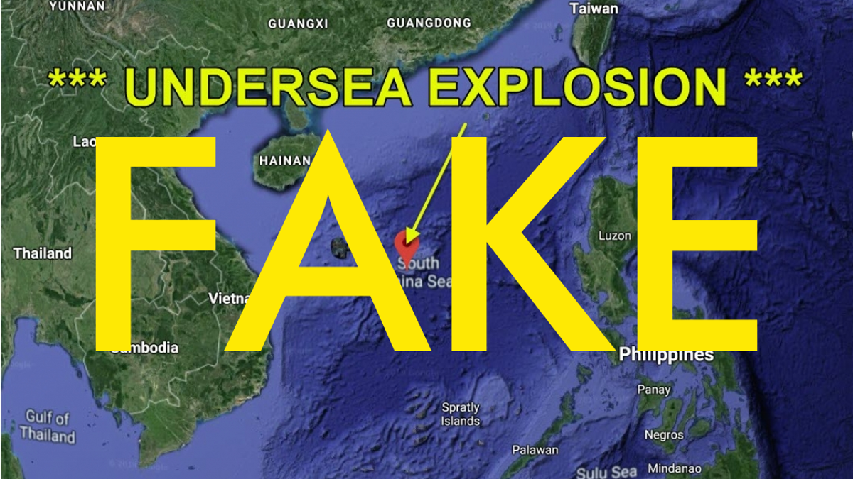 No, China Did Not Secretly Detonate a Nuke in the South China Sea to Signal the Start of WWIII