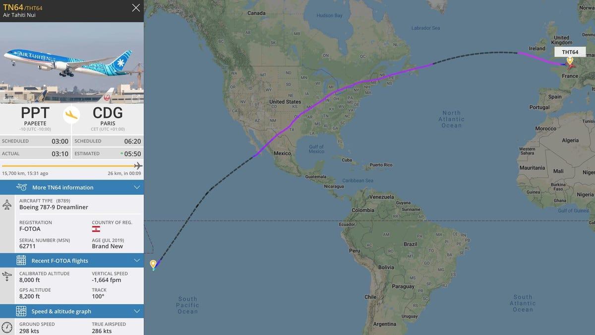 Realizan el vuelo doméstico más largo de la historia a causa del coronavirus
