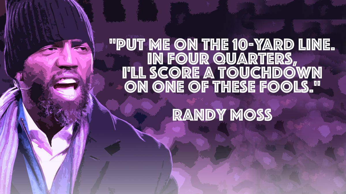 Randy Moss hasn't retired his mouth