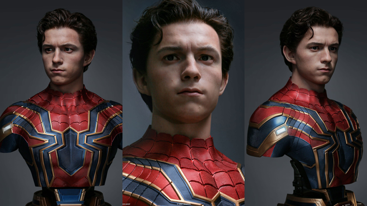 This Life-Size Tom Holland Spider-Man Bust Can Be Seen, But Not Believed