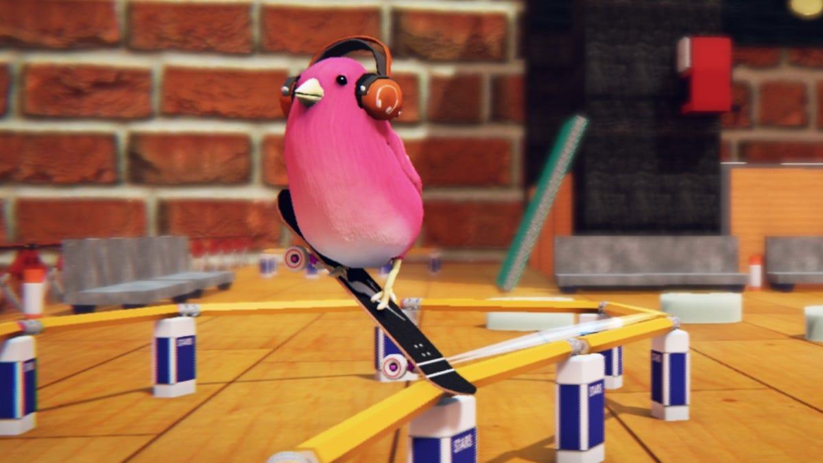 Skatebird Puts Cinnamon Roll Birds In A Bleh Skateboarding Game