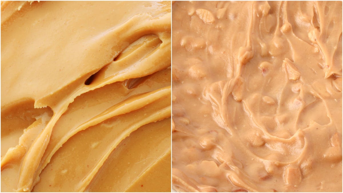 Image result for peanut butter creamy and crunchy
