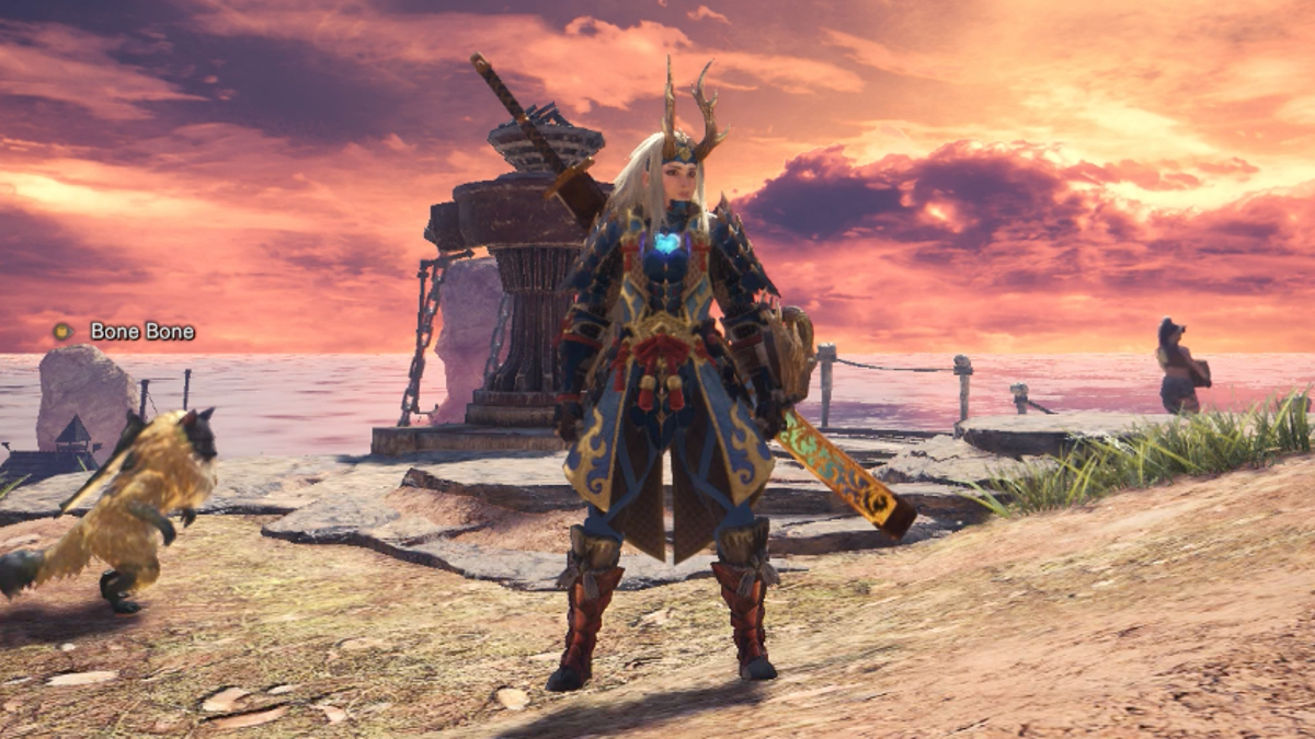 monster hunter world bone armor male