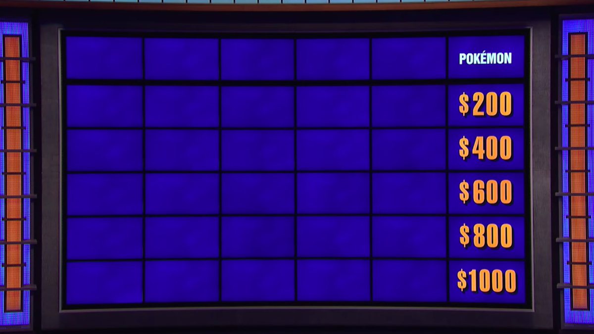 Jeopardy Puts Up Pokémon Category That's Somehow Even Easier Than Pokémon Games