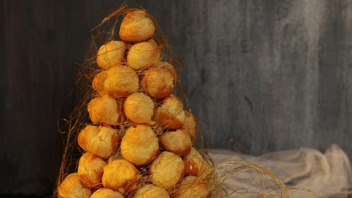 Embracing the chaos of croquembouche, the most delicious holiday decor
