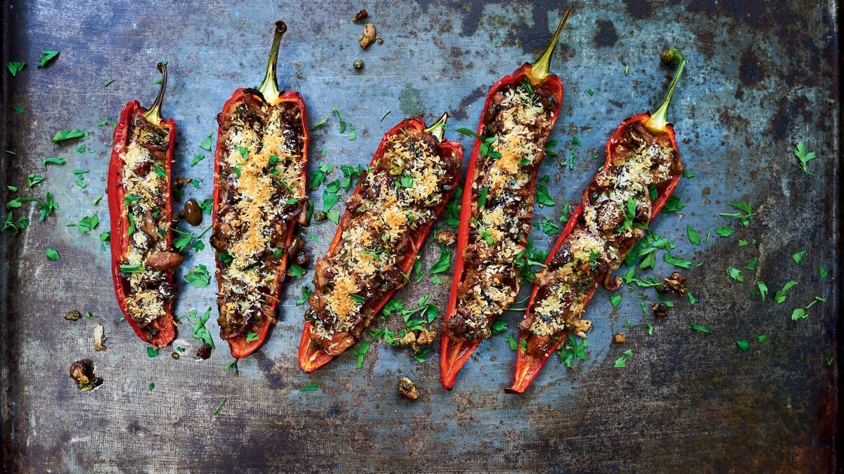 Make these Tuna and Olive-Stuffed Peppers, a sustainable savory snack