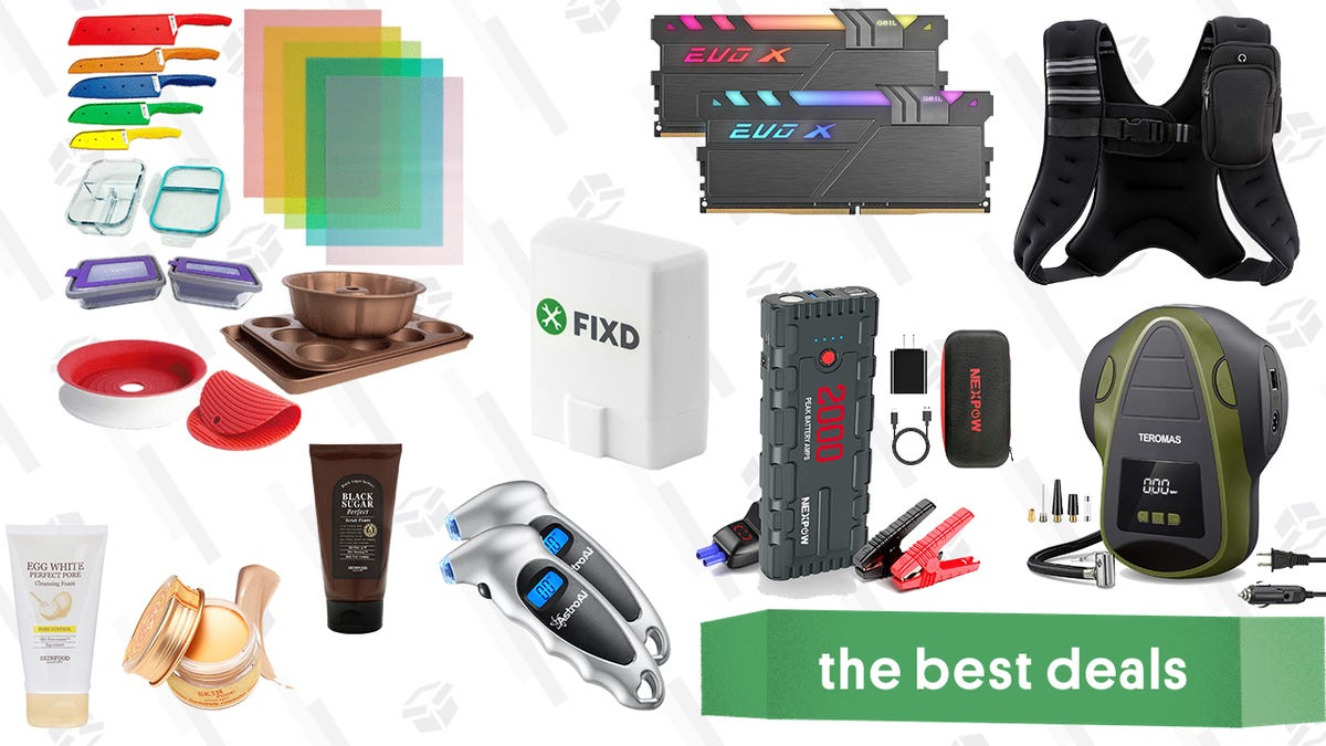 Sunday's Best Deals: FIXD Vehicle Diagnostic Tool, Kitchen Solutions Bundle, Skinfood Products, Compact Tire Inflator, and More