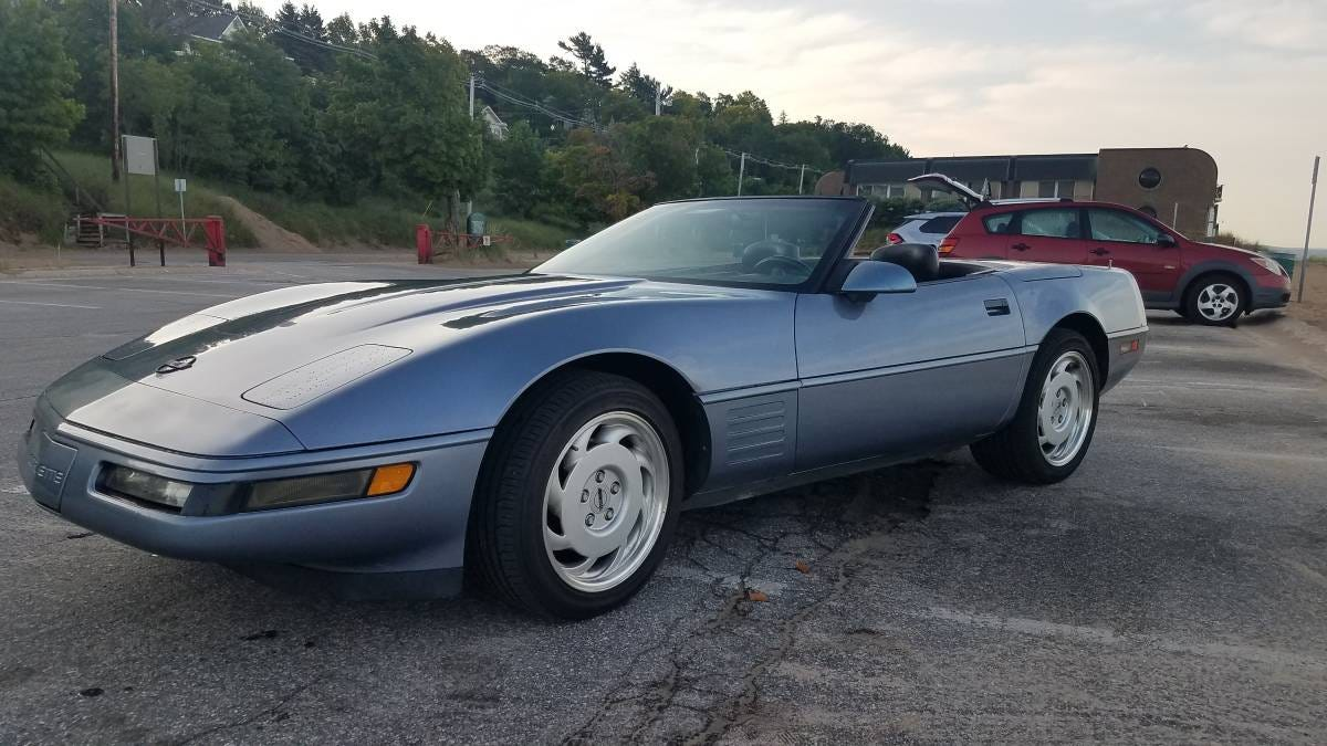 At $9,500, Could This Azure 1991 Chevy Corvette Beat The Blues?