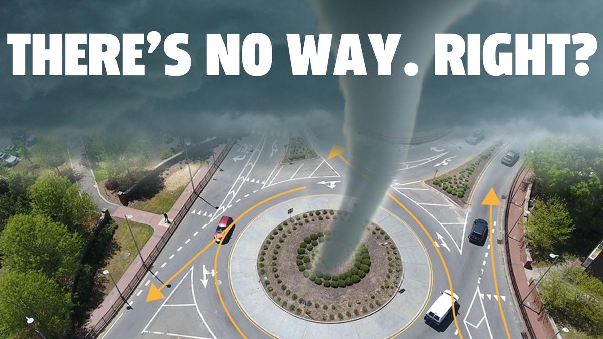 Fragen wir doch mal einen Experten, ob Kreisverkehre Tornados erzeugen können€