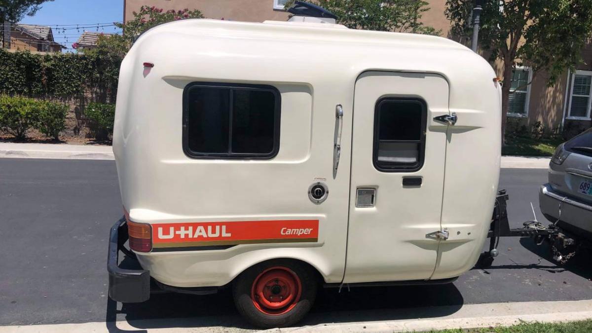 This Rare Fiberglass Camper Trailer Used To Be A U-Haul Rental