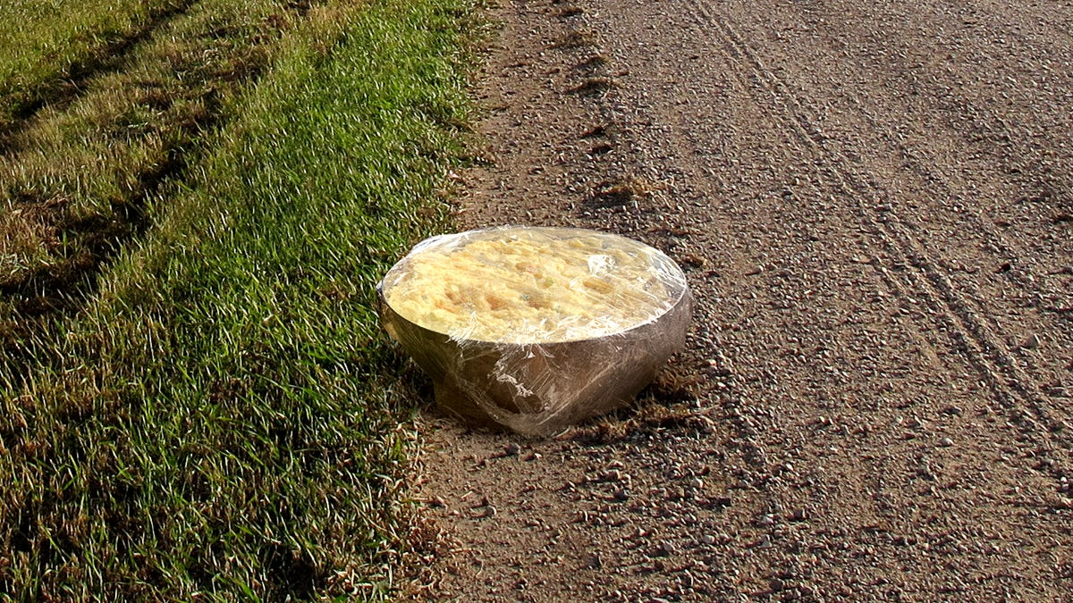 Iowa Leaves Big Saran-Wrapped Bowl Of Potato Salad At Illinois Border After Making Too Much