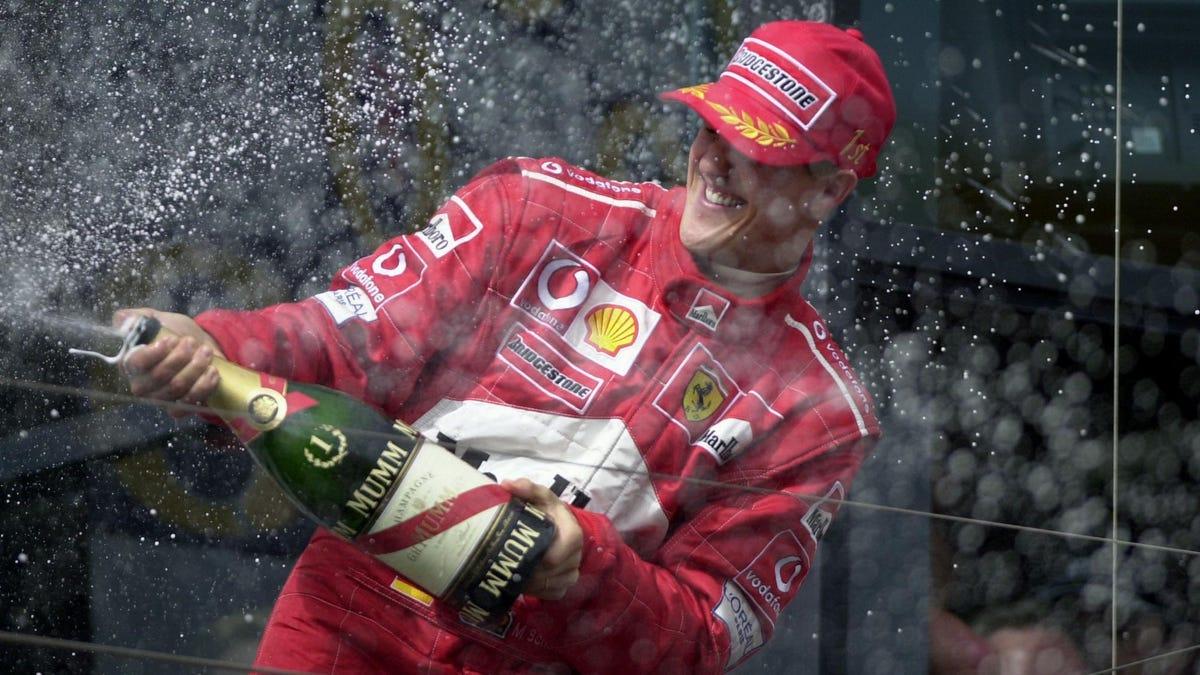 Schumacher schafft den Mythos, der eine der größten Ikonen der Formel 1 umgibt