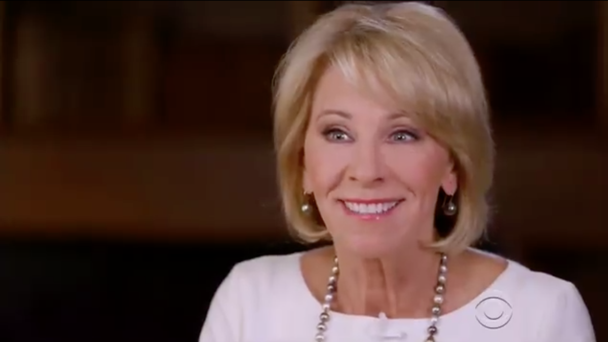 Betsy DeVos Becomes the Face of Clownery After Trainwreck 60 Minutes Interview