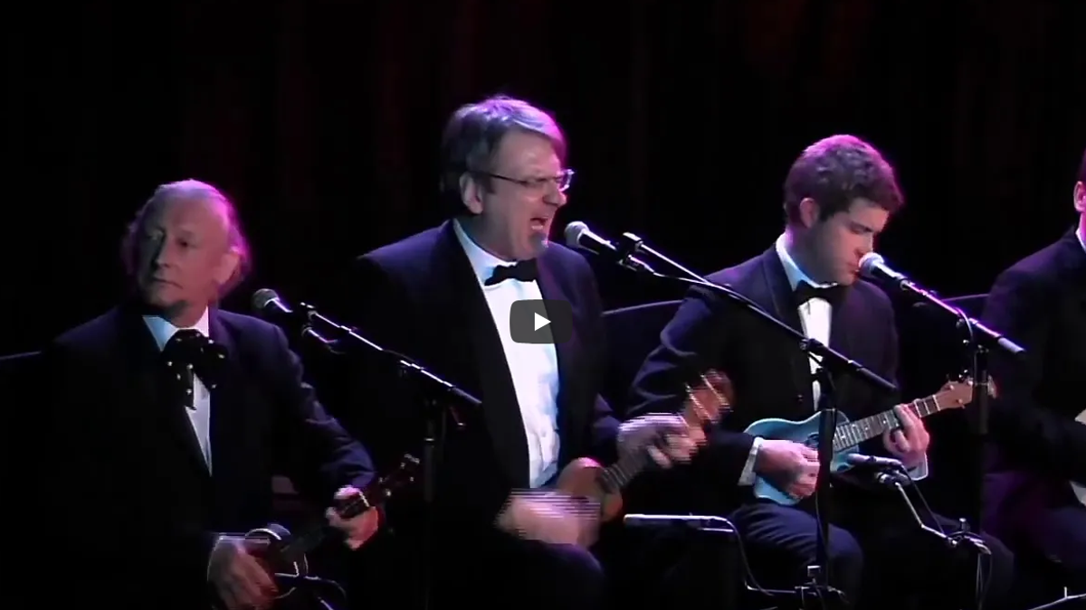 Watch a ukulele orchestra cover a whole bunch of pop songs
